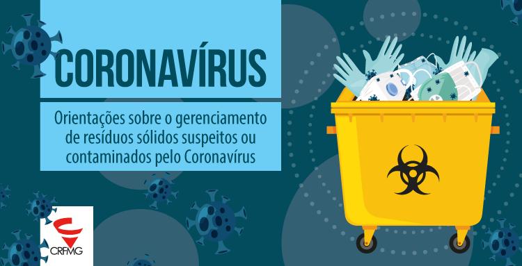 Cartilha Orientações sobre o gerenciamento de resíduos sólidos suspeitos ou contaminados pelo Coronavírus